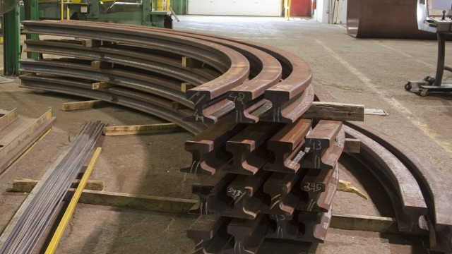 curved steel rails