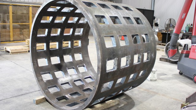 Slotted Steel Cylinder