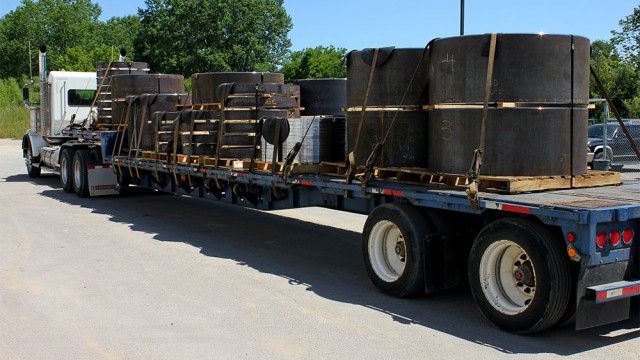 A Truck Shipping Steel Production Components